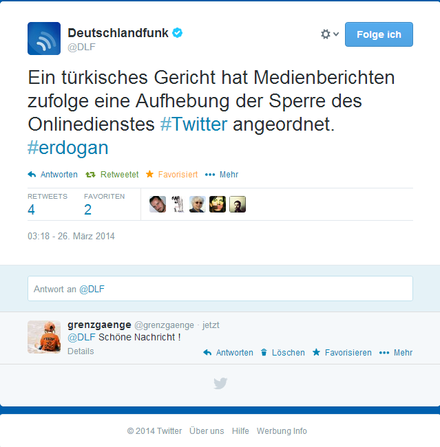 Twitter   DLF  Ein türkisches Gericht hat ...