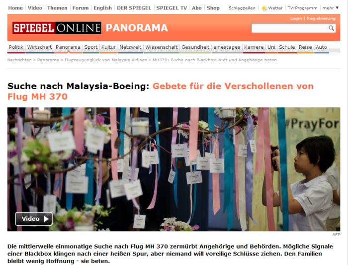 MH370  Suche nach Blackbox läuft und Angehörige beten   SPIEGEL ONLINE
