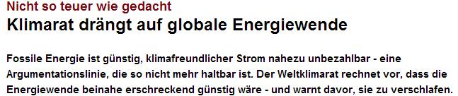 Nicht so teuer wie gedacht  Klimarat drängt auf globale Energiewende   n tv.de