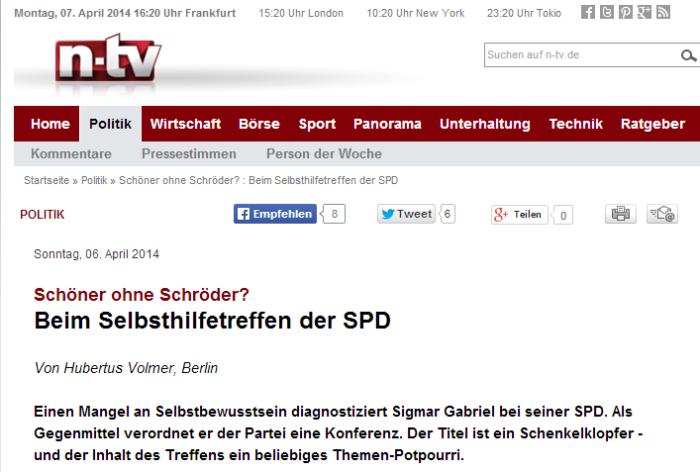 Schöner ohne Schröder   Beim Selbsthilfetreffen der SPD   n tv.de