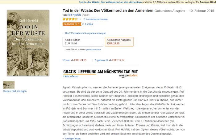 Tod in der Wüste  Der Völkermord an den Armeniern  Amazon.de  Rolf Hosfeld  Bücher