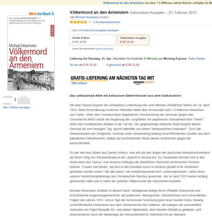 Völkermord an den Armeniern  Amazon.de  Michael Hesemann  Bücher